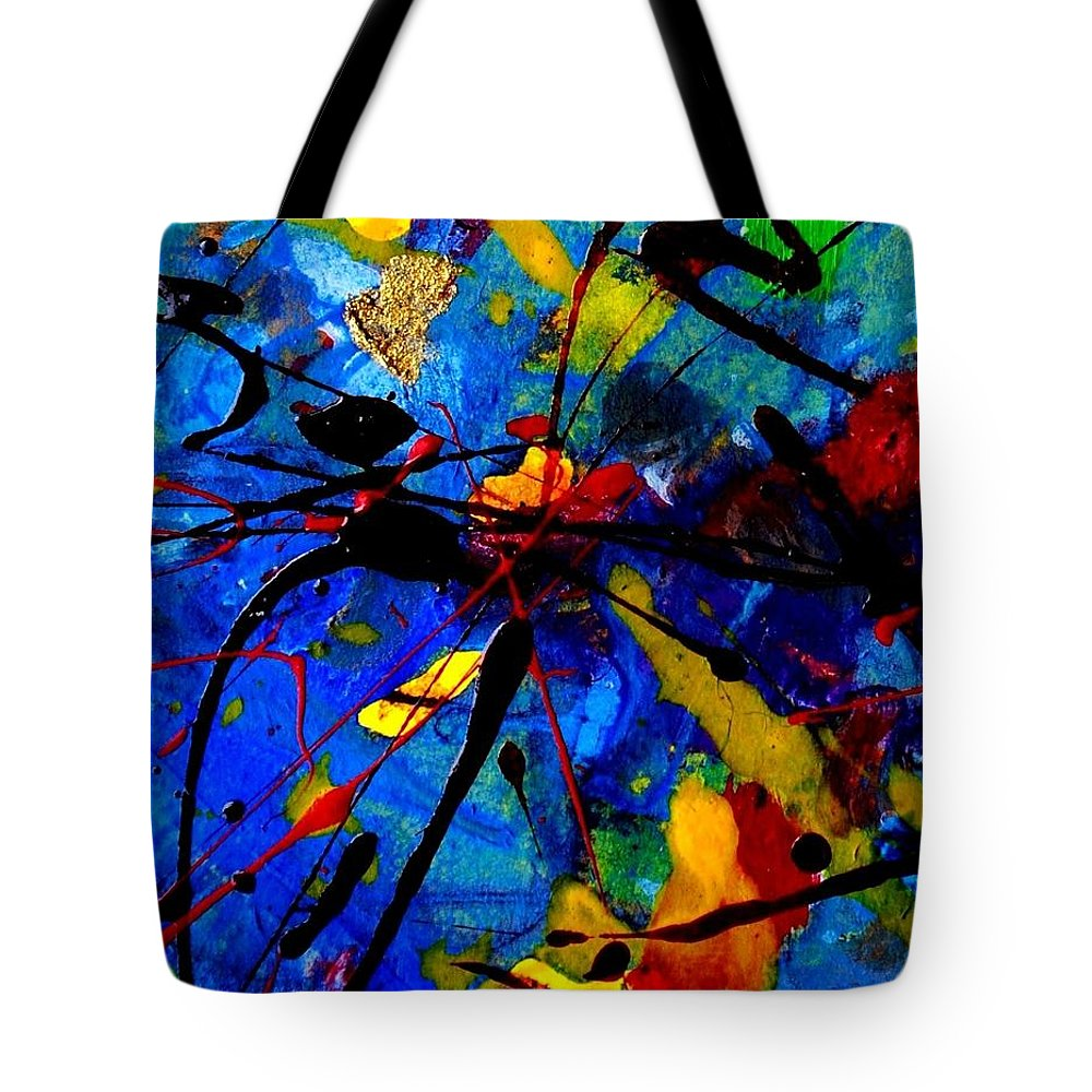 Abstract Tote Bag featuring the mixed media Abstract 39 by John Nolan