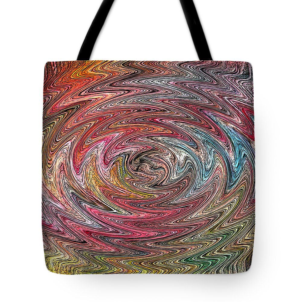 Swirl Tote Bag featuring the digital art Abstract 404 by James Raynor