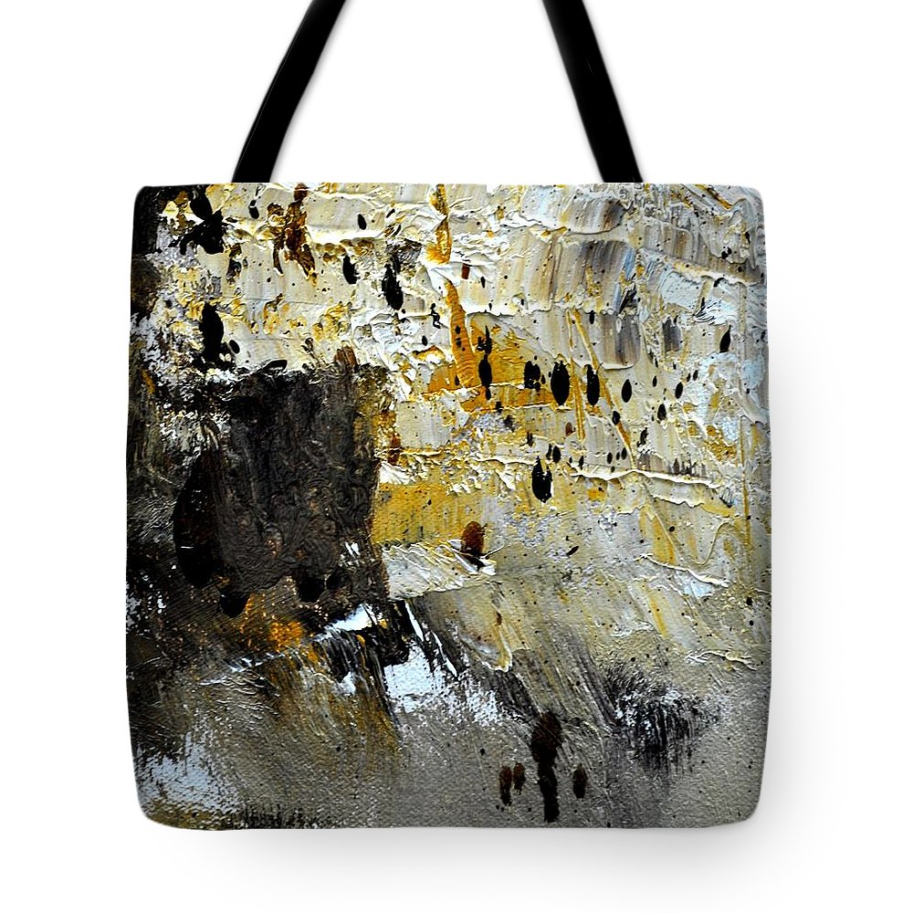 Abstract Tote Bag featuring the painting Abstract 411111 by Pol Ledent