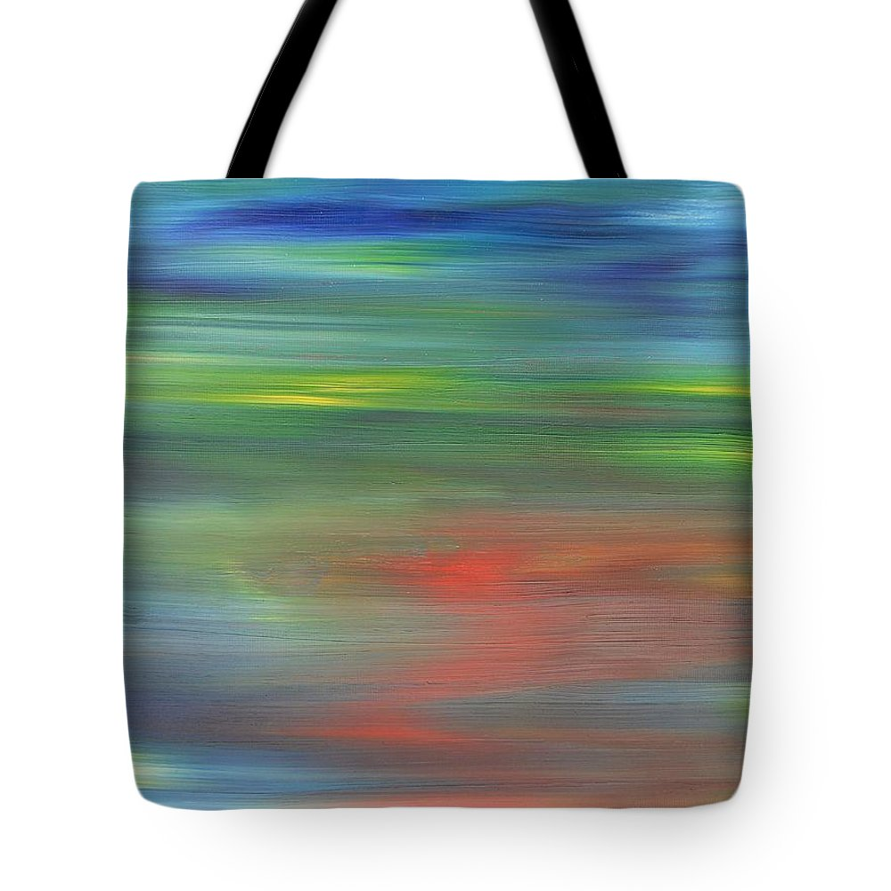 Abstract Tote Bag featuring the painting Abstract 421 by Patrick J Murphy