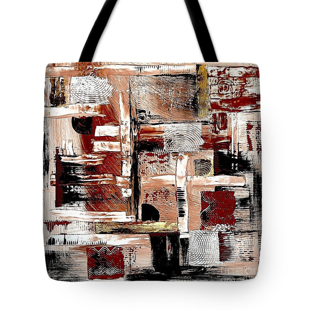 Abstract Tote Bag featuring the digital art Abstract 524-11-13 Marucii by Marek Lutek