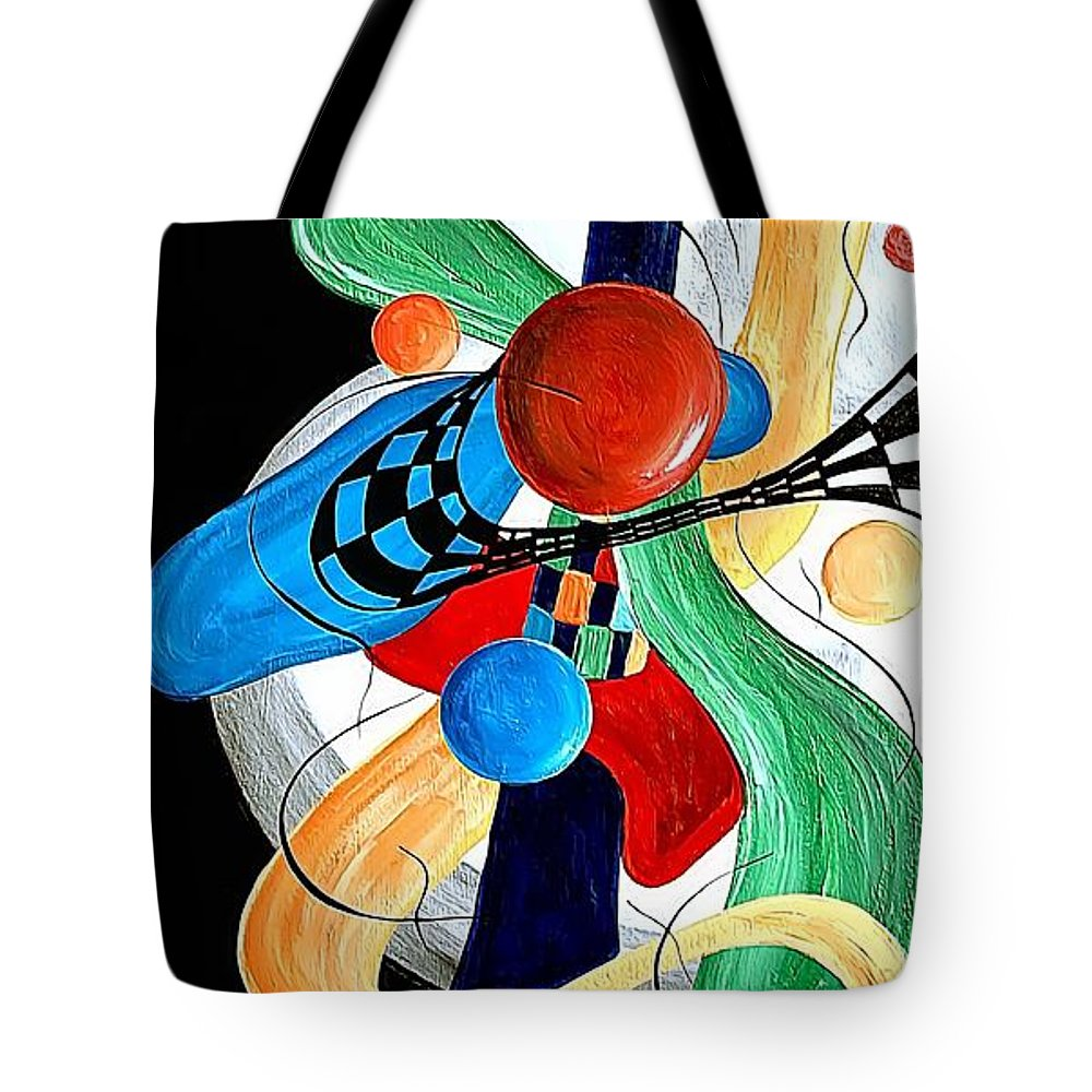 Abstract Tote Bag featuring the digital art Abstract 525-11-13 Marucii by Marek Lutek