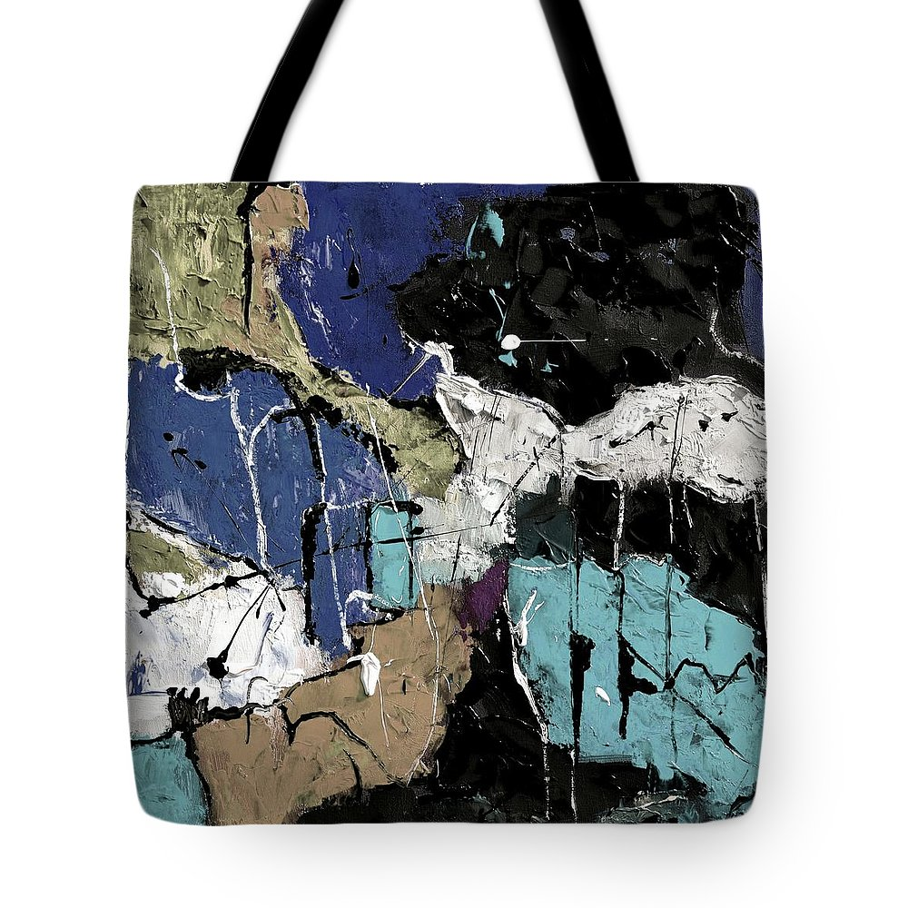 Abstract Tote Bag featuring the painting Abstract 553150802 by Pol Ledent