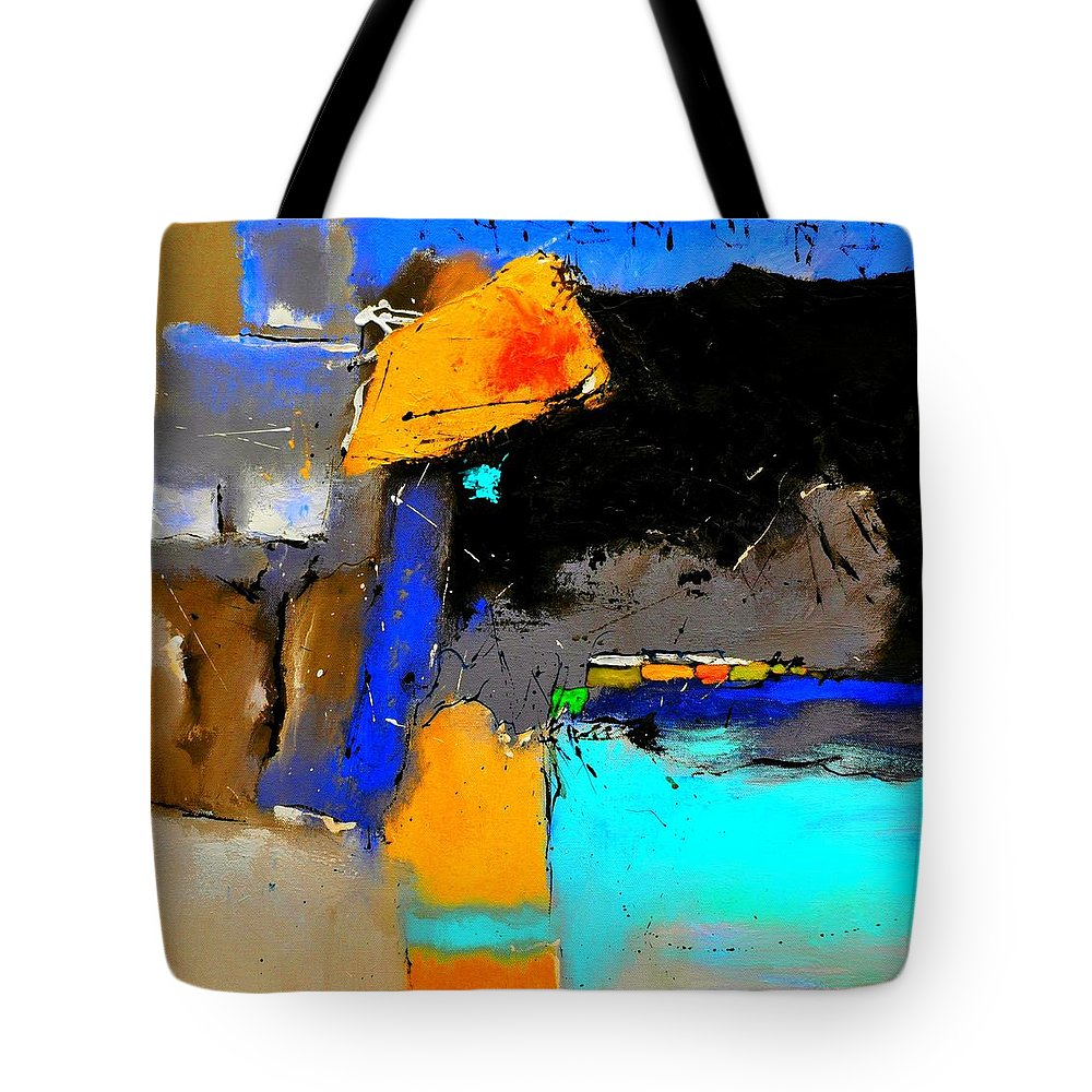 Abstract Tote Bag featuring the painting Abstract 664150 by Pol Ledent