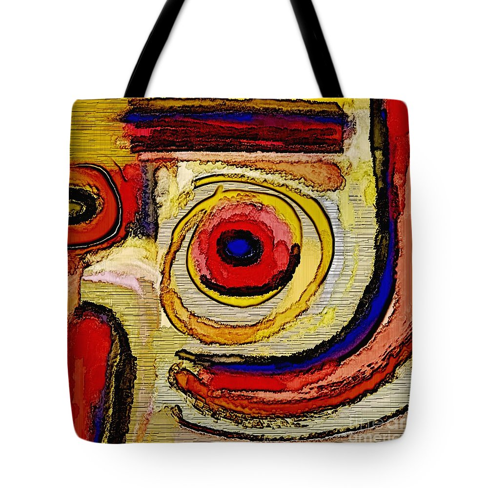 Art Online Tote Bag featuring the painting Abstract 857 by Nedunseralathan R