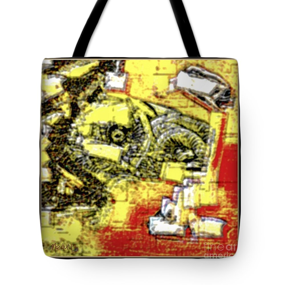 Art Prints Tote Bag featuring the painting Abstract 889 by Nedunseralathan R