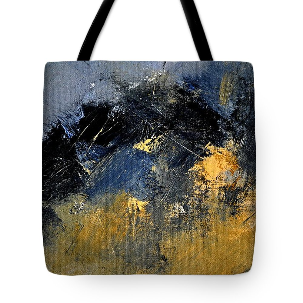 Abstract Tote Bag featuring the painting Abstract 963257 by Pol Ledent