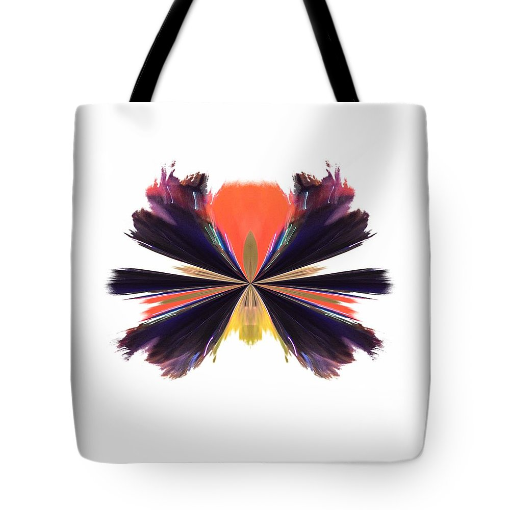 Abstract A030 Tote Bag featuring the digital art Abstract A030 by Maria Urso