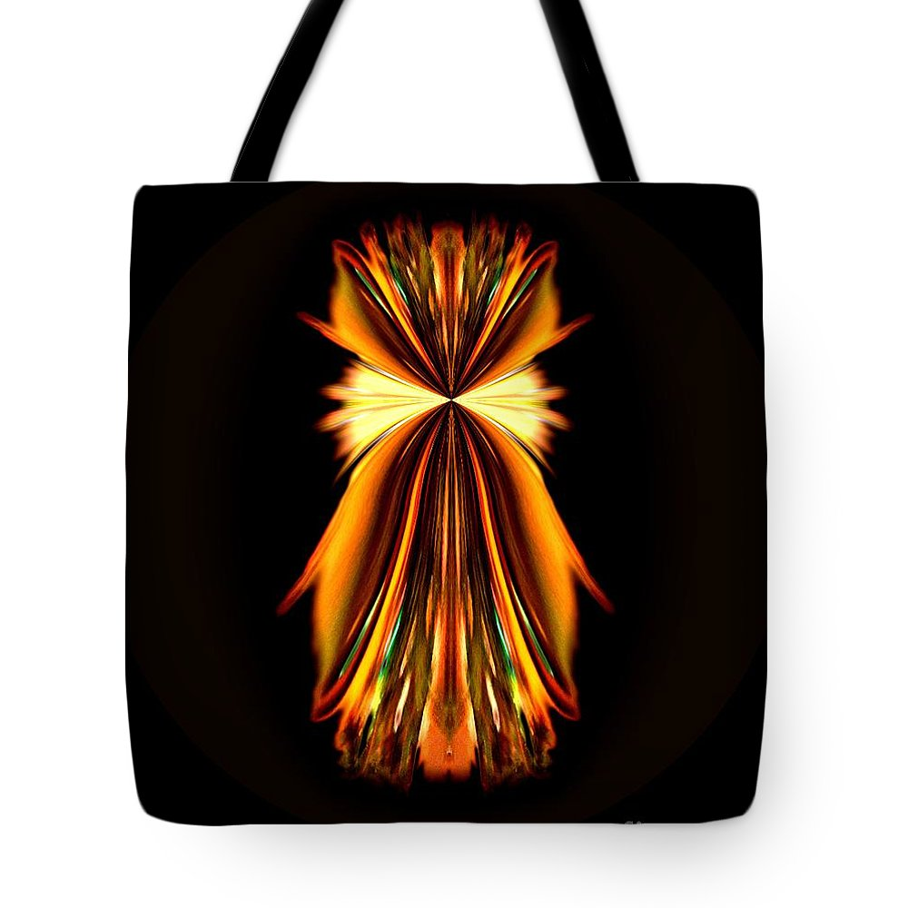 Abstract A030 Tote Bag featuring the digital art Abstract A031 by Maria Urso