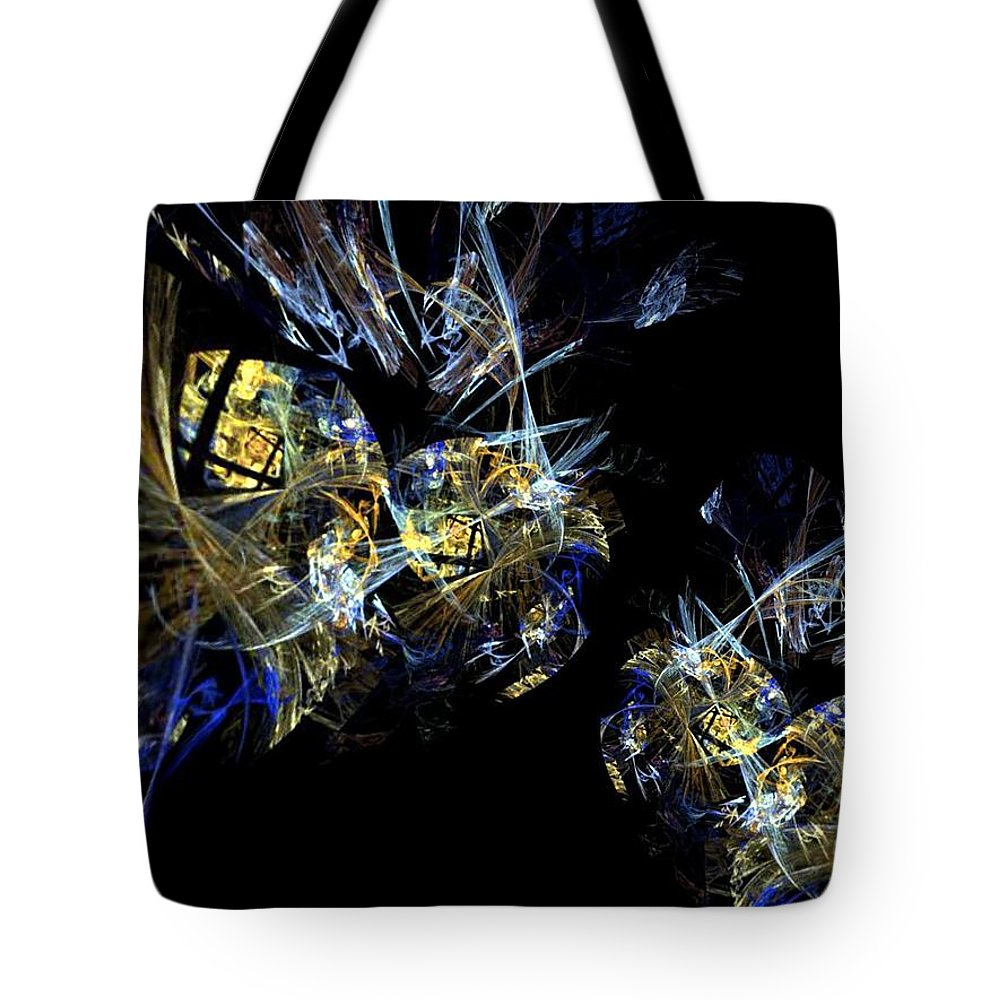 Abstract A07 Tote Bag featuring the digital art Abstract A07 by Maria Urso