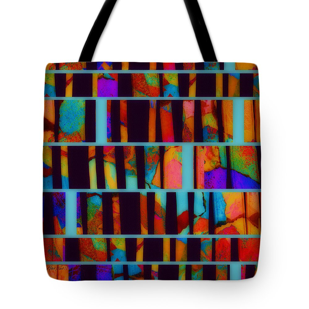 Abstract Tote Bag featuring the digital art abstract - art- Color Pop by Ann Powell