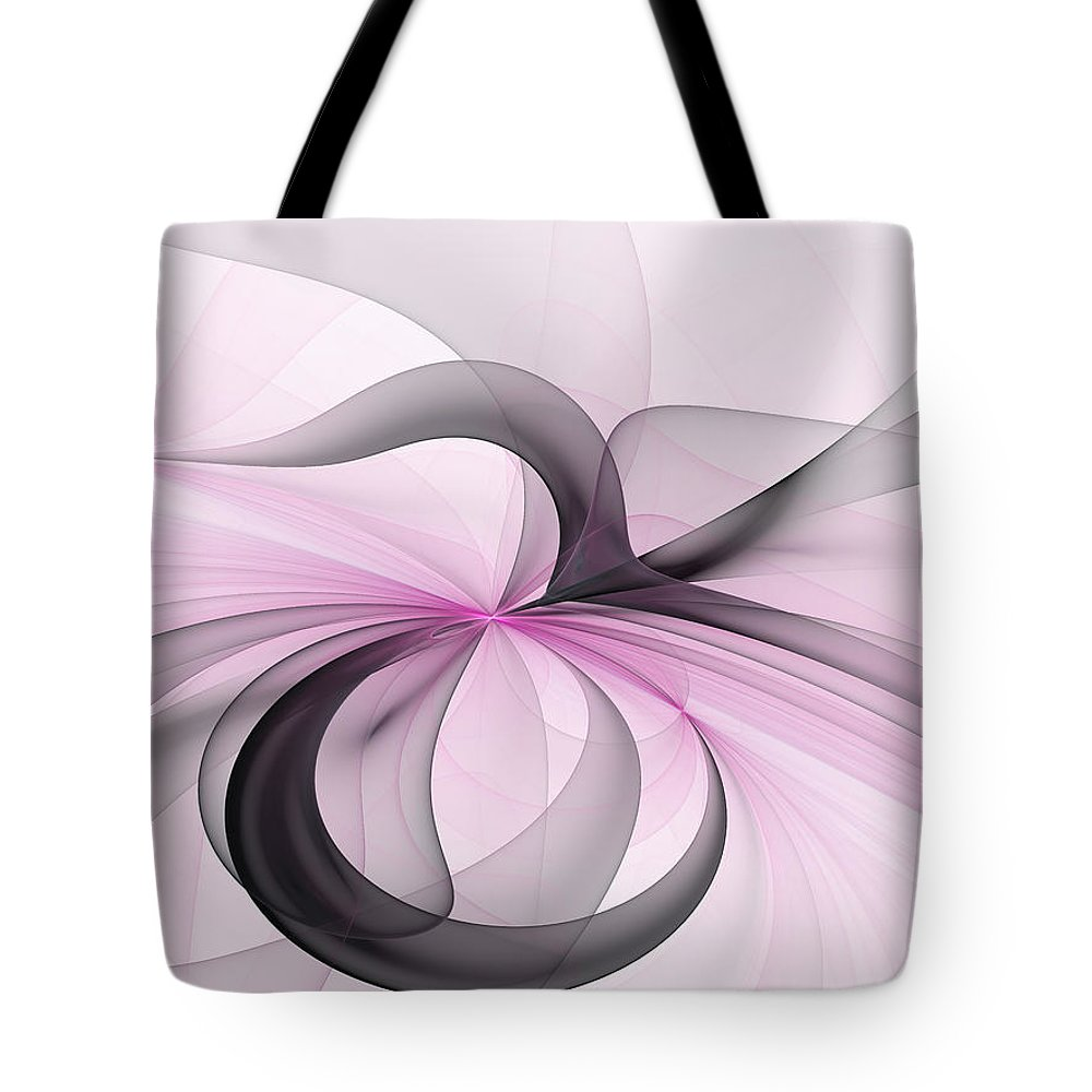 Digital Art Tote Bag featuring the digital art Abstract Art Fractal With Pink by Gabiw Art