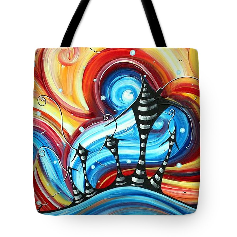 abstract art original colorful funky house painting home on the hill
