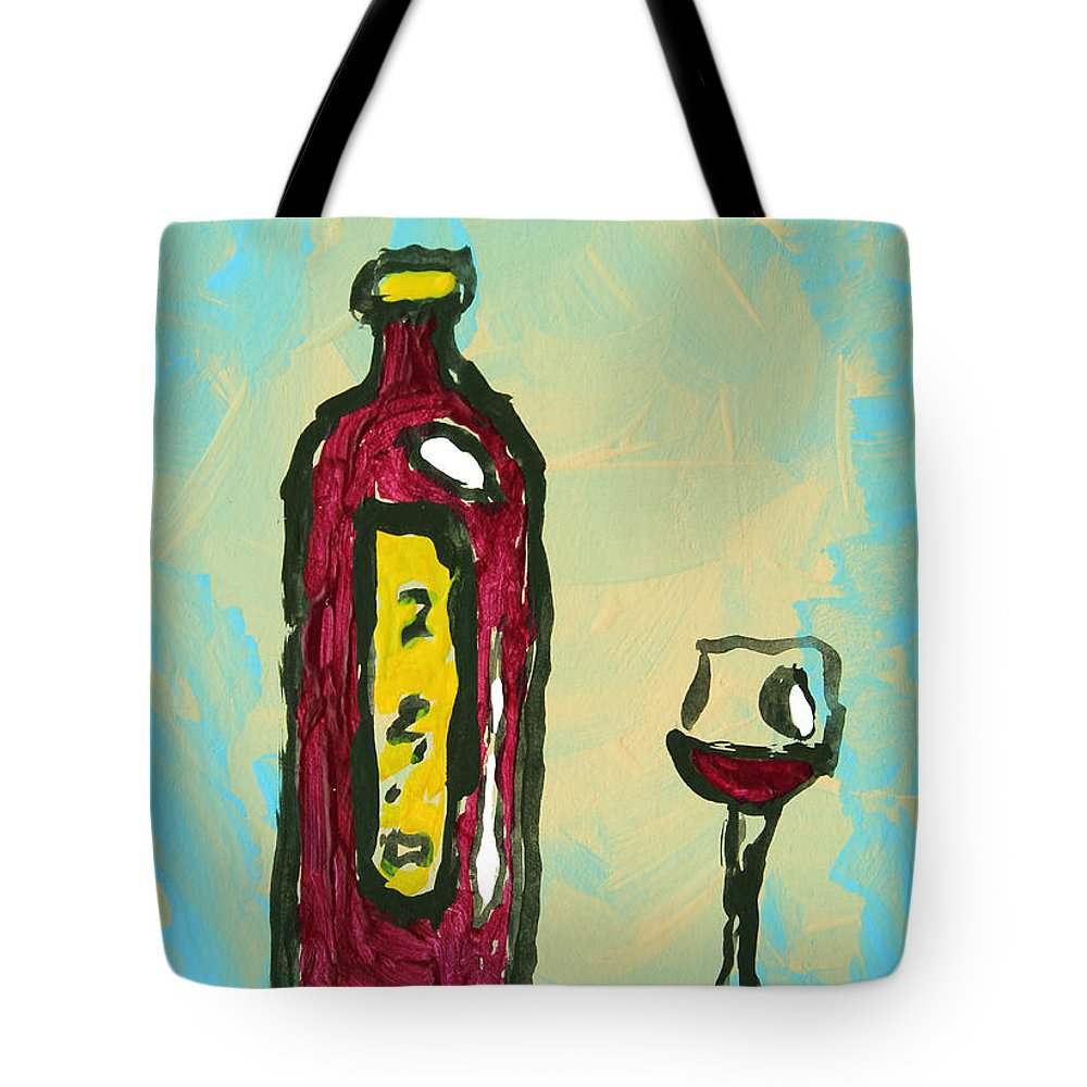 Abstract Art Original Wine Bottle Glass Painting Simple By Megan ...