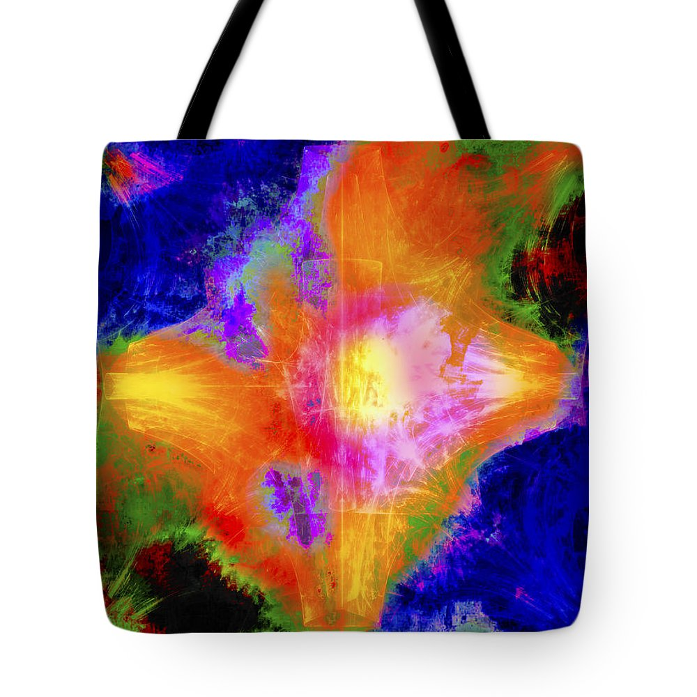 Abstract Tote Bag featuring the digital art Abstract Series B1 by Carlos Diaz