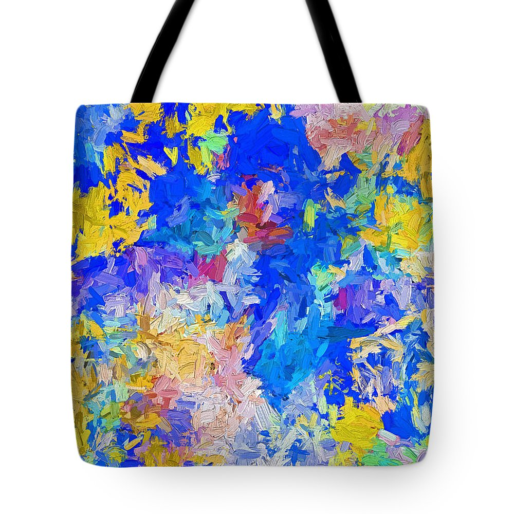 Abstract Tote Bag featuring the digital art Abstract Series B10 by Carlos Diaz