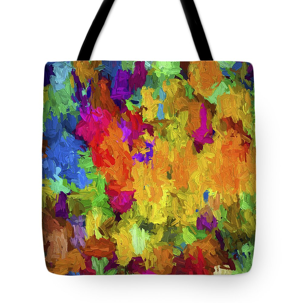Abstract Tote Bag featuring the digital art Abstract Series B7 by Carlos Diaz
