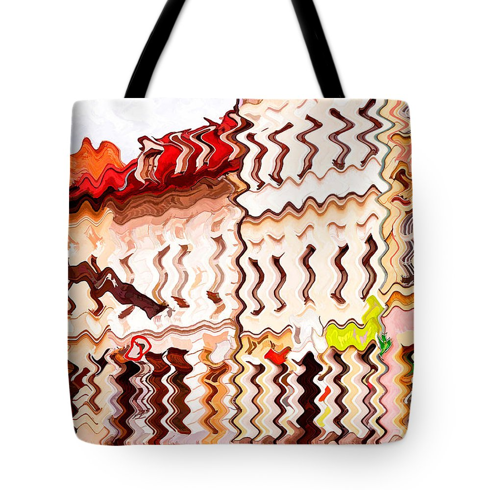 Abstract Tote Bag featuring the photograph Abstract Buildings by Les Palenik