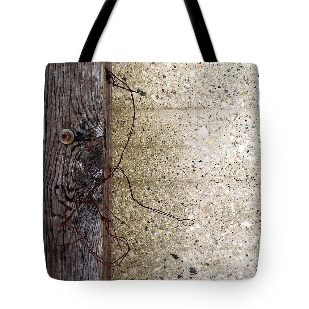 Industrial. Urban Tote Bag featuring the photograph Abstract Concrete 11 by Anita Burgermeister