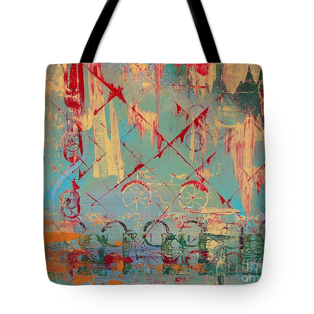 Cruiser Tote Bag featuring the painting Abstract Cruiser by Tamyra Crossley