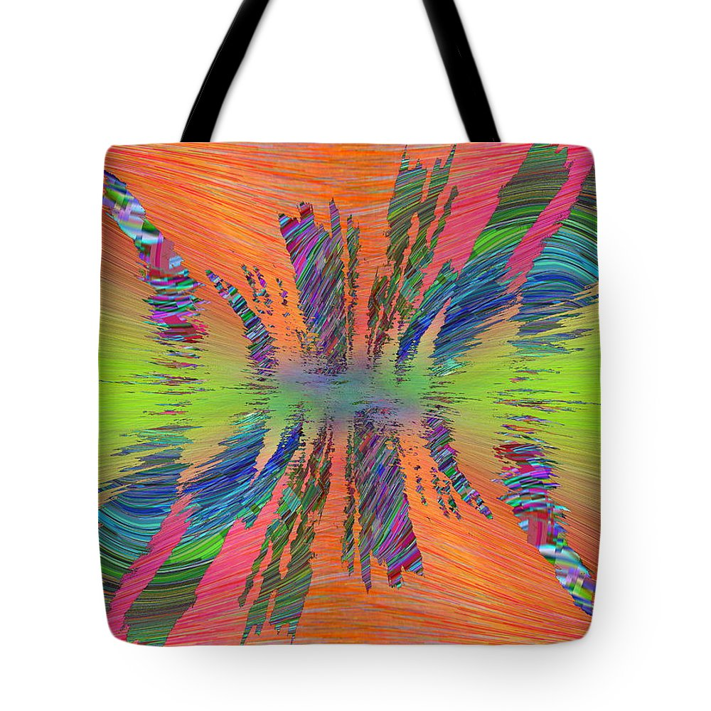 Abstract Tote Bag featuring the digital art Abstract Cubed 168 by Tim Allen