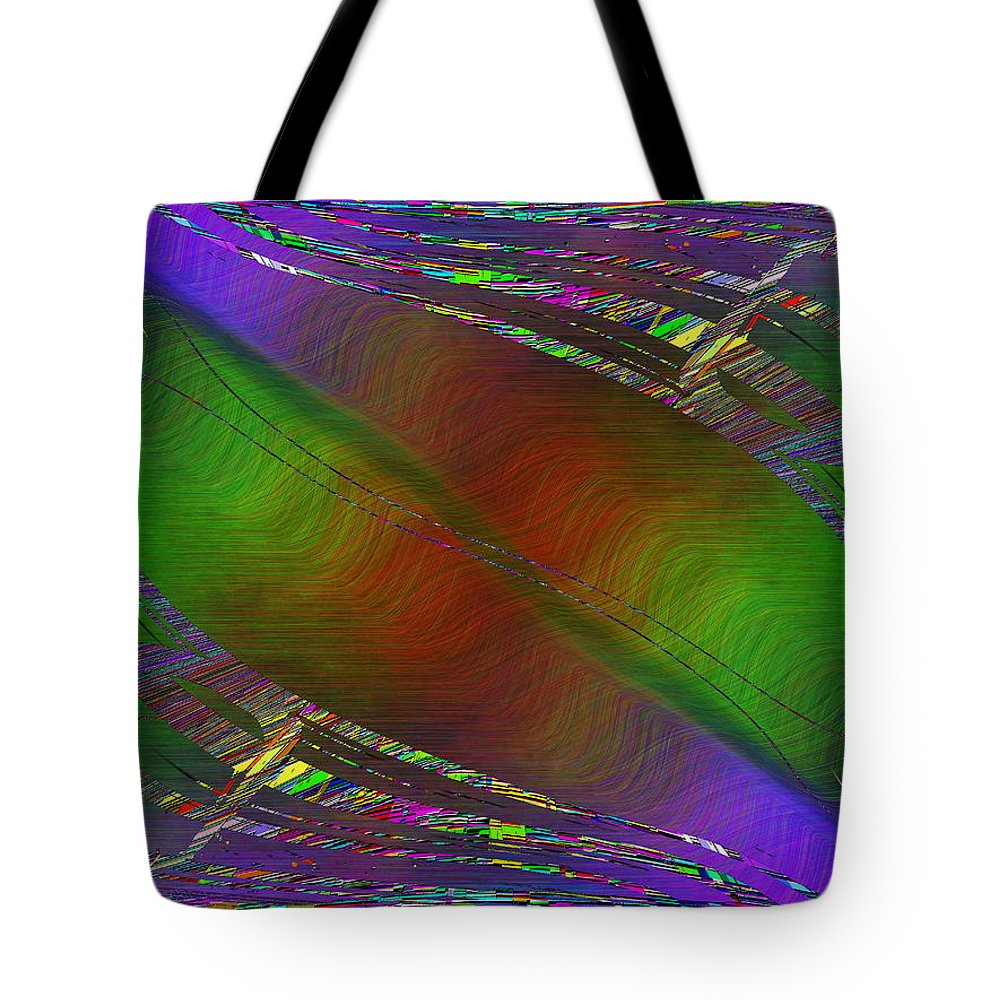 Abstract Tote Bag featuring the digital art Abstract Cubed 193 by Tim Allen