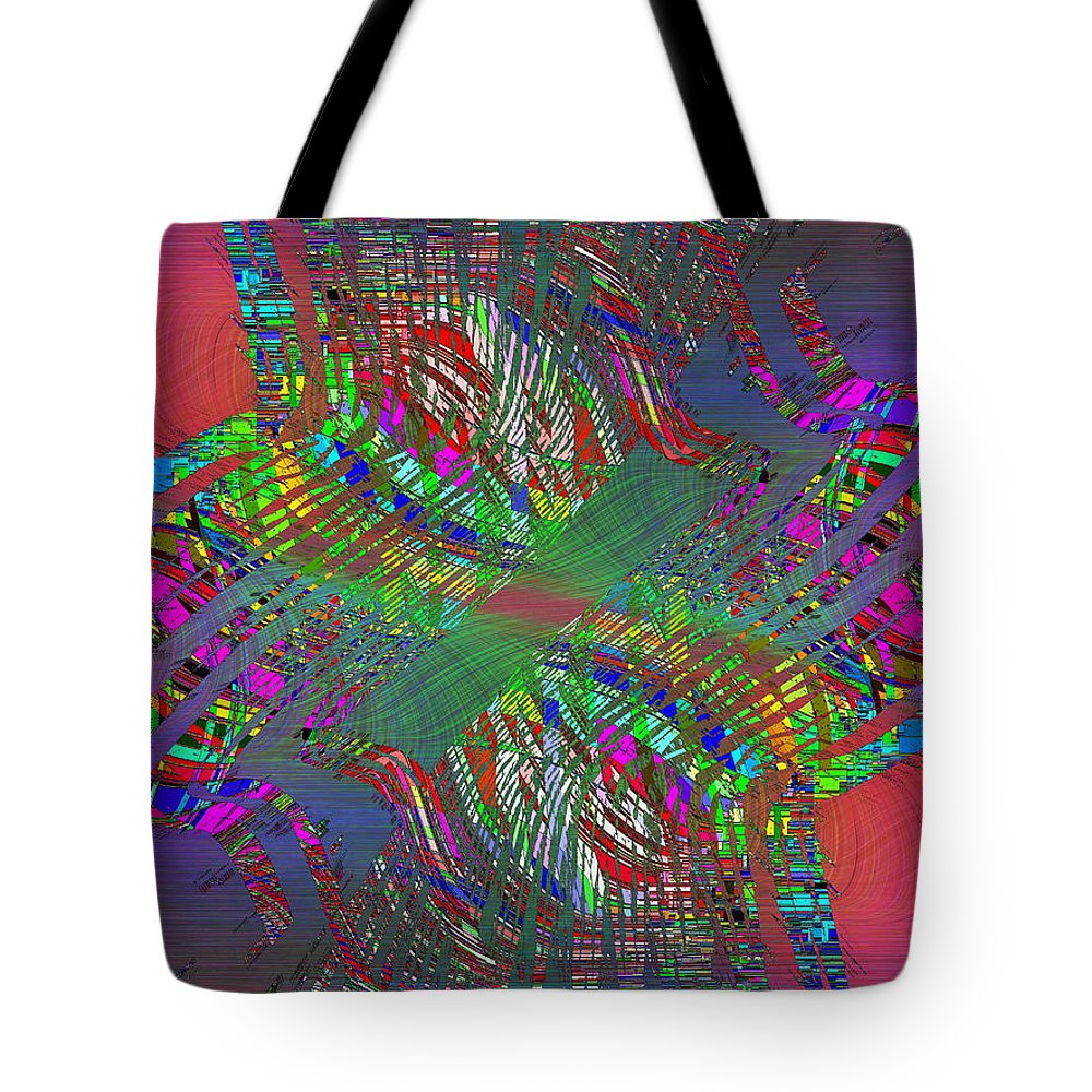 Abstract Tote Bag featuring the digital art Abstract Cubed 194 by Tim Allen