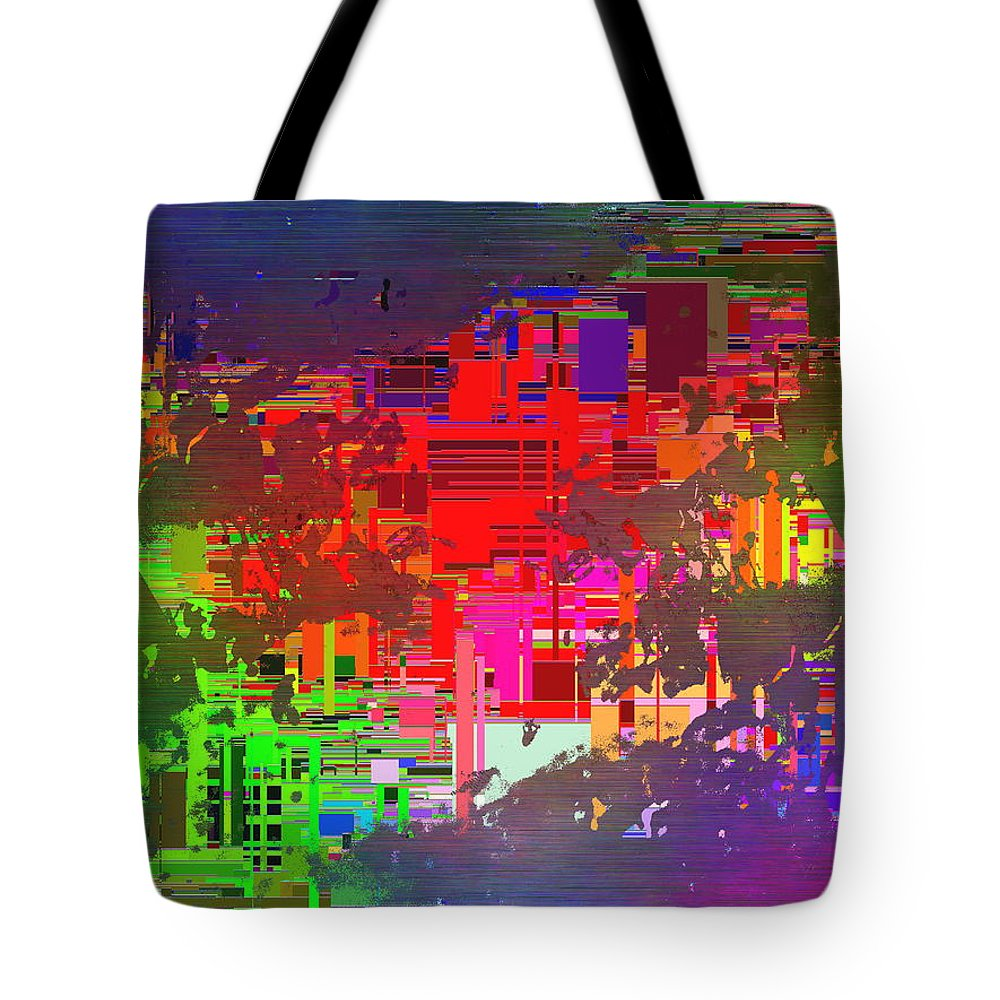 Abstract Tote Bag featuring the digital art Abstract Cubed 2 by Tim Allen