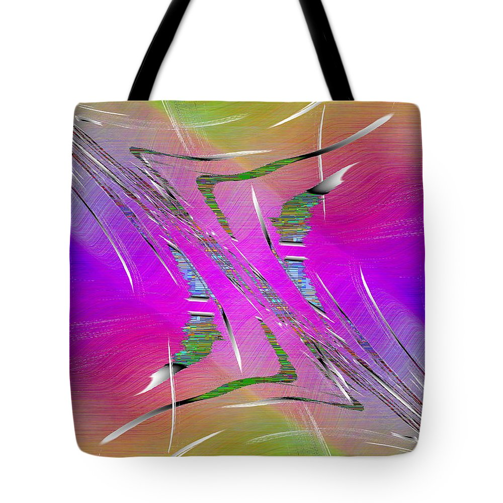 Abstract Tote Bag featuring the digital art Abstract Cubed 223 by Tim Allen
