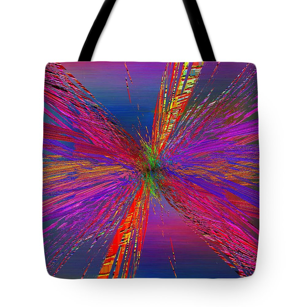 Abstract Tote Bag featuring the digital art Abstract Cubed 95 by Tim Allen