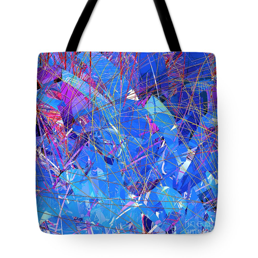 Abstract Tote Bag featuring the digital art Abstract Curvy 30 by Russell Kightley