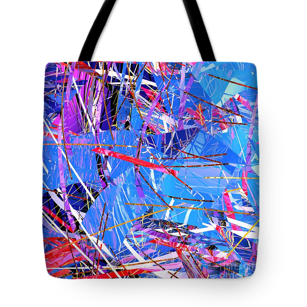 Abstract Tote Bag featuring the digital art Abstract Curvy 31 by Russell Kightley