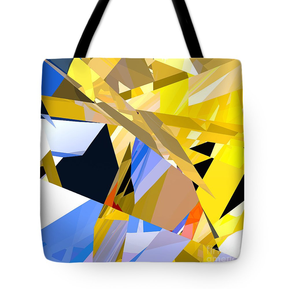 Abstract Tote Bag featuring the digital art Abstract Curvy 35 by Russell Kightley