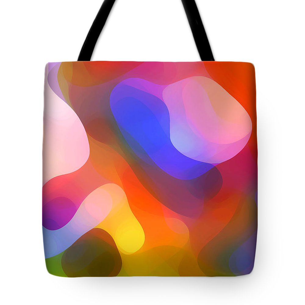 Abstract Art Tote Bag featuring the painting Abstract Dappled Sunlight by Amy Vangsgard