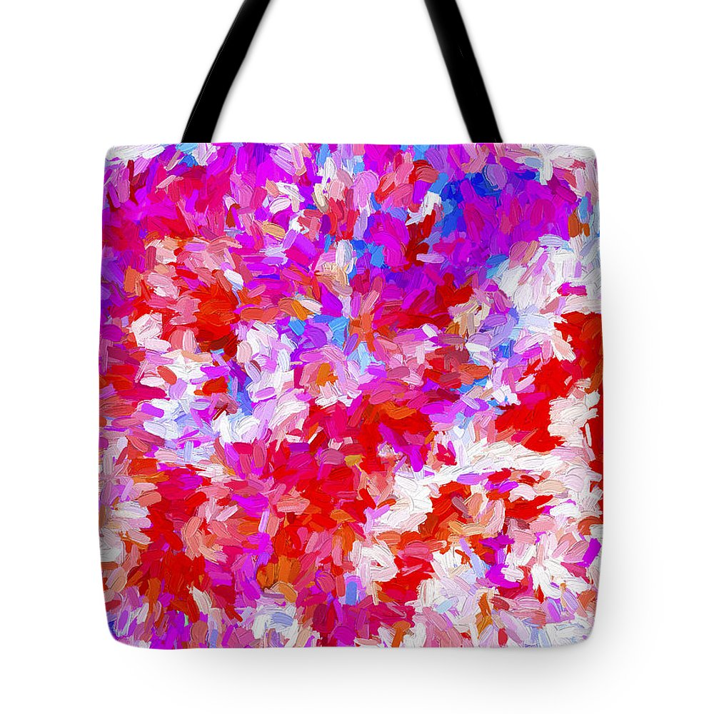 Abstract Tote Bag featuring the digital art Abstract Series Ex2 by Carlos Diaz