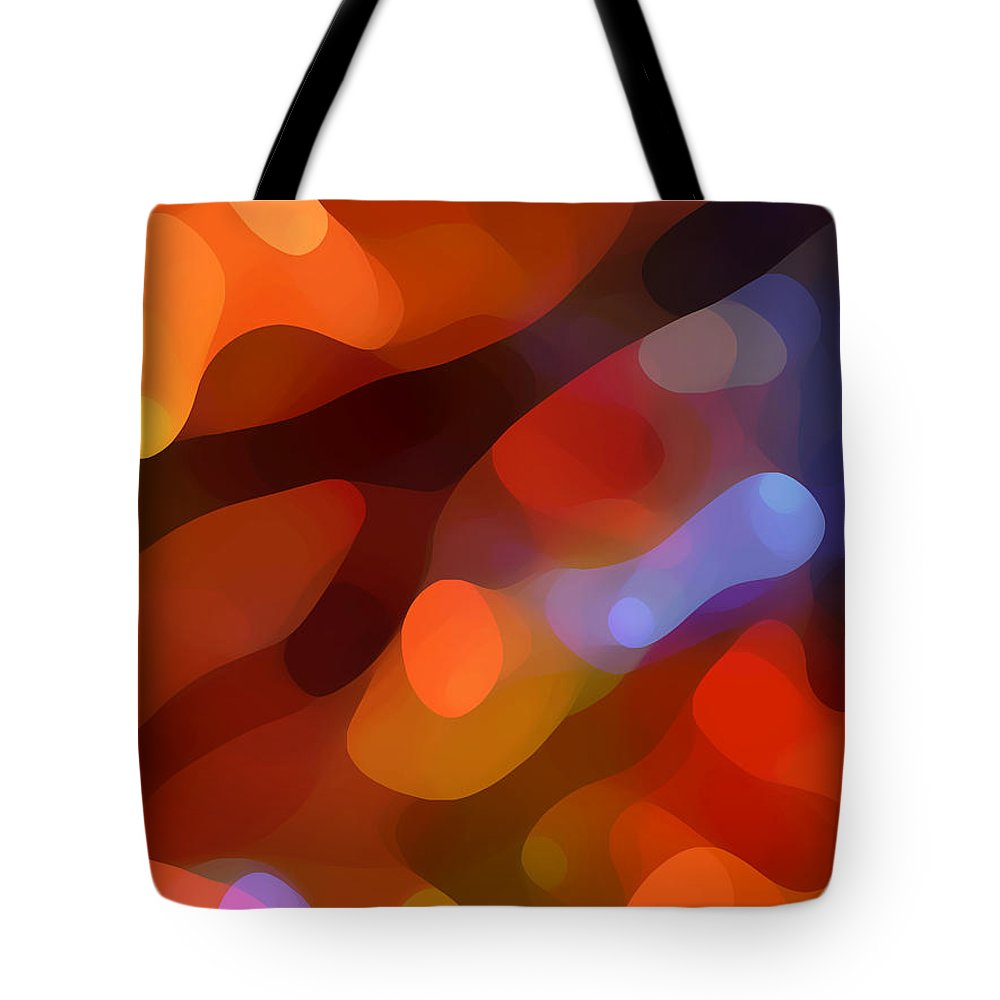 Abstract Art Tote Bag featuring the painting Abstract Fall Light by Amy Vangsgard