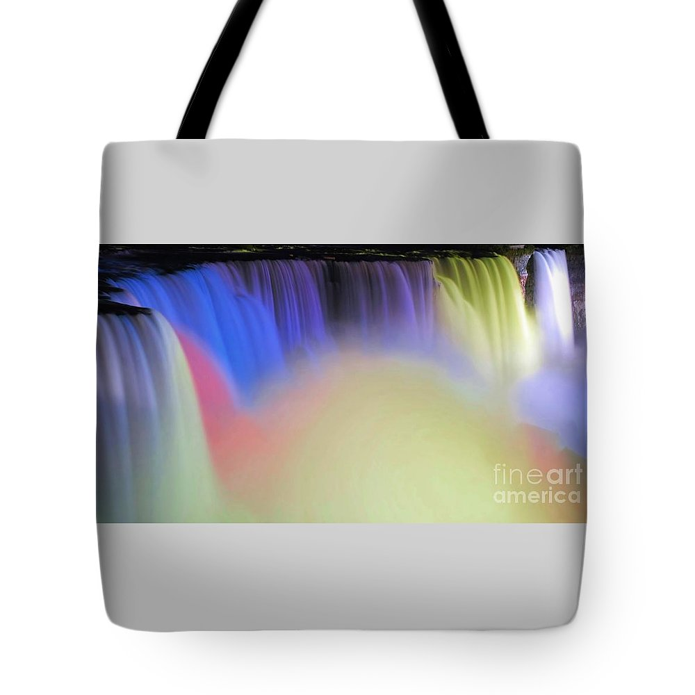 Niagara Tote Bag featuring the photograph Abstract Falls by Kathleen Struckle