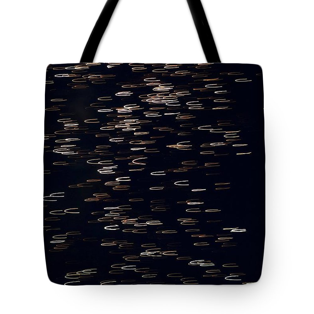 Fireworks Tote Bag featuring the photograph Abstract Fireworks by Kathleen Odenthal