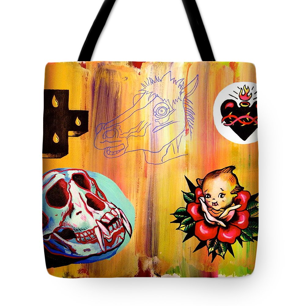Flash Tote Bag featuring the painting Abstract Flash by Britt Kuechenmeister