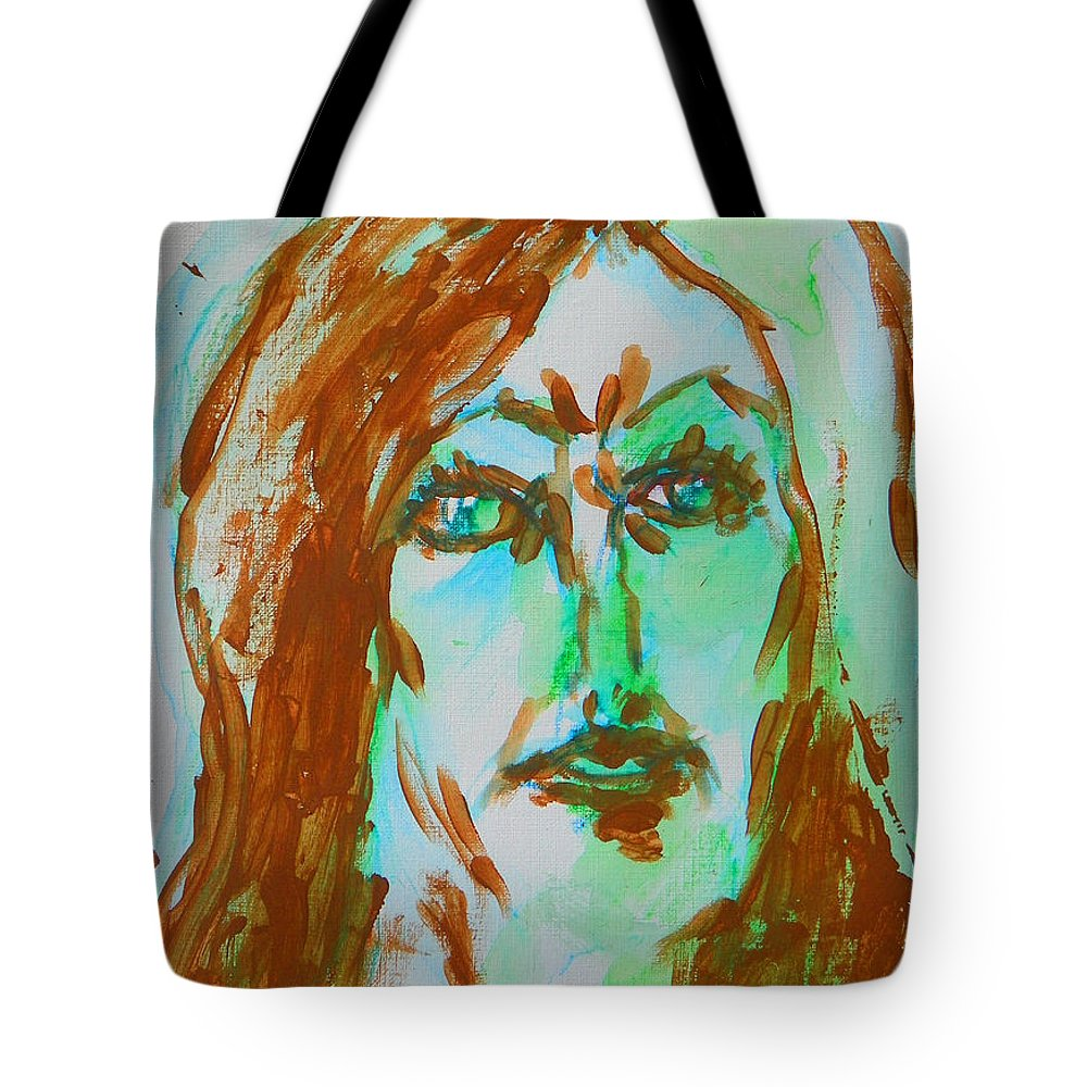 Abstract Tote Bag featuring the painting Abstract Flashes Of Joan by Judith Redman