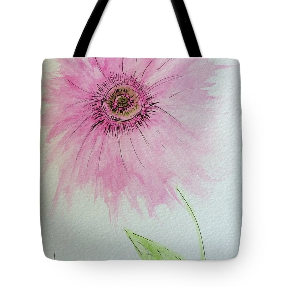 India Ink Tote Bag featuring the painting Abstract Flower by Gail Nandlal