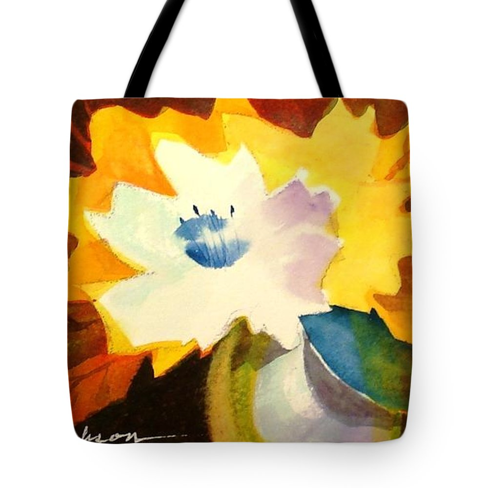 Flowers Tote Bag featuring the painting Abstract Flowers 2 by Marilyn Jacobson