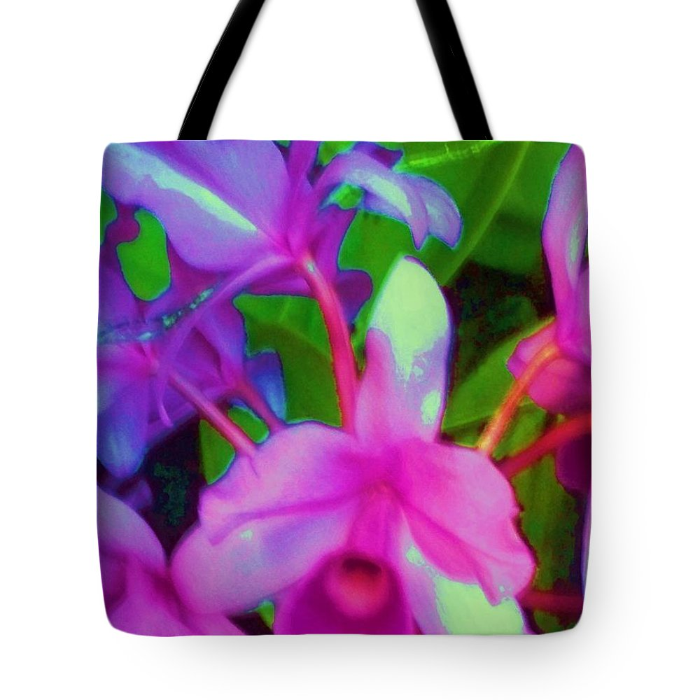 Abstract Tote Bag featuring the photograph Abstract Flowers by Eric Schiabor