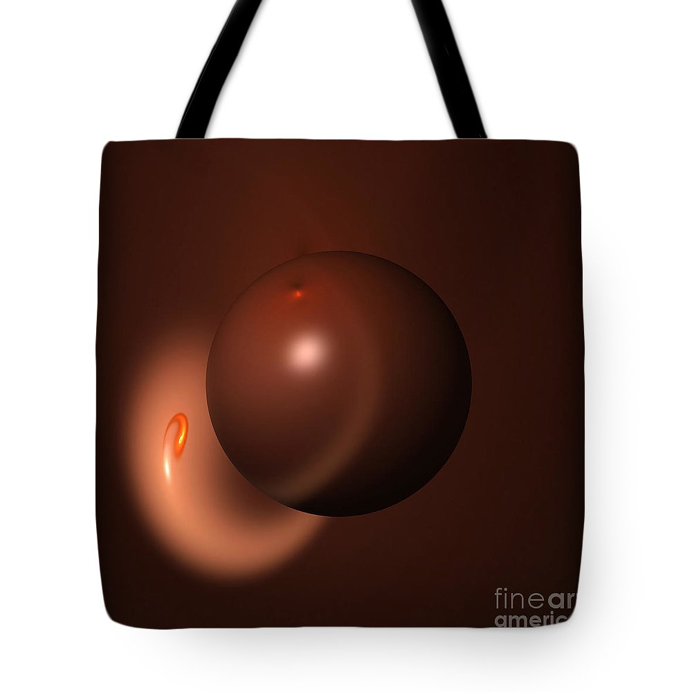 Brown Tote Bag featuring the photograph Abstract Fractal Globe by Henrik Lehnerer