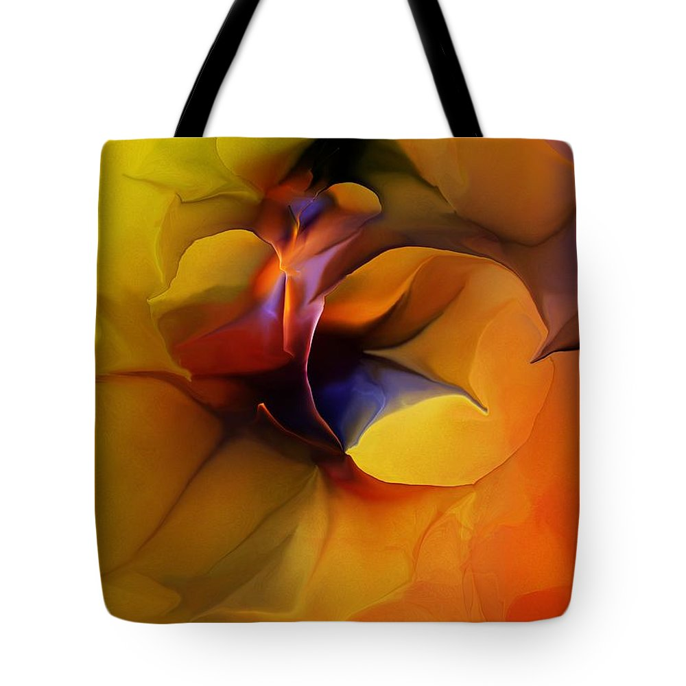 Fine Art Tote Bag featuring the digital art Abstract From Within by David Lane