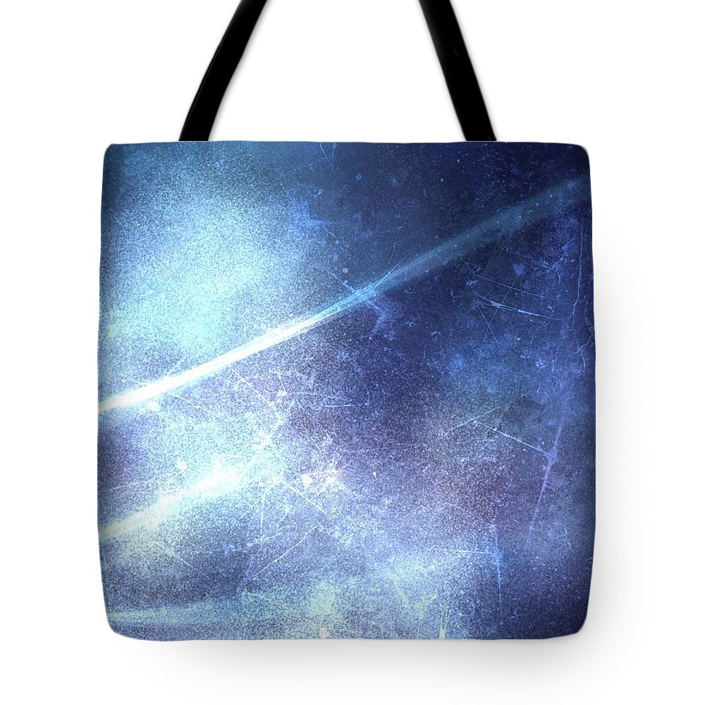Abstract Tote Bag featuring the digital art Abstract Frozen Glass by Veronica Minozzi