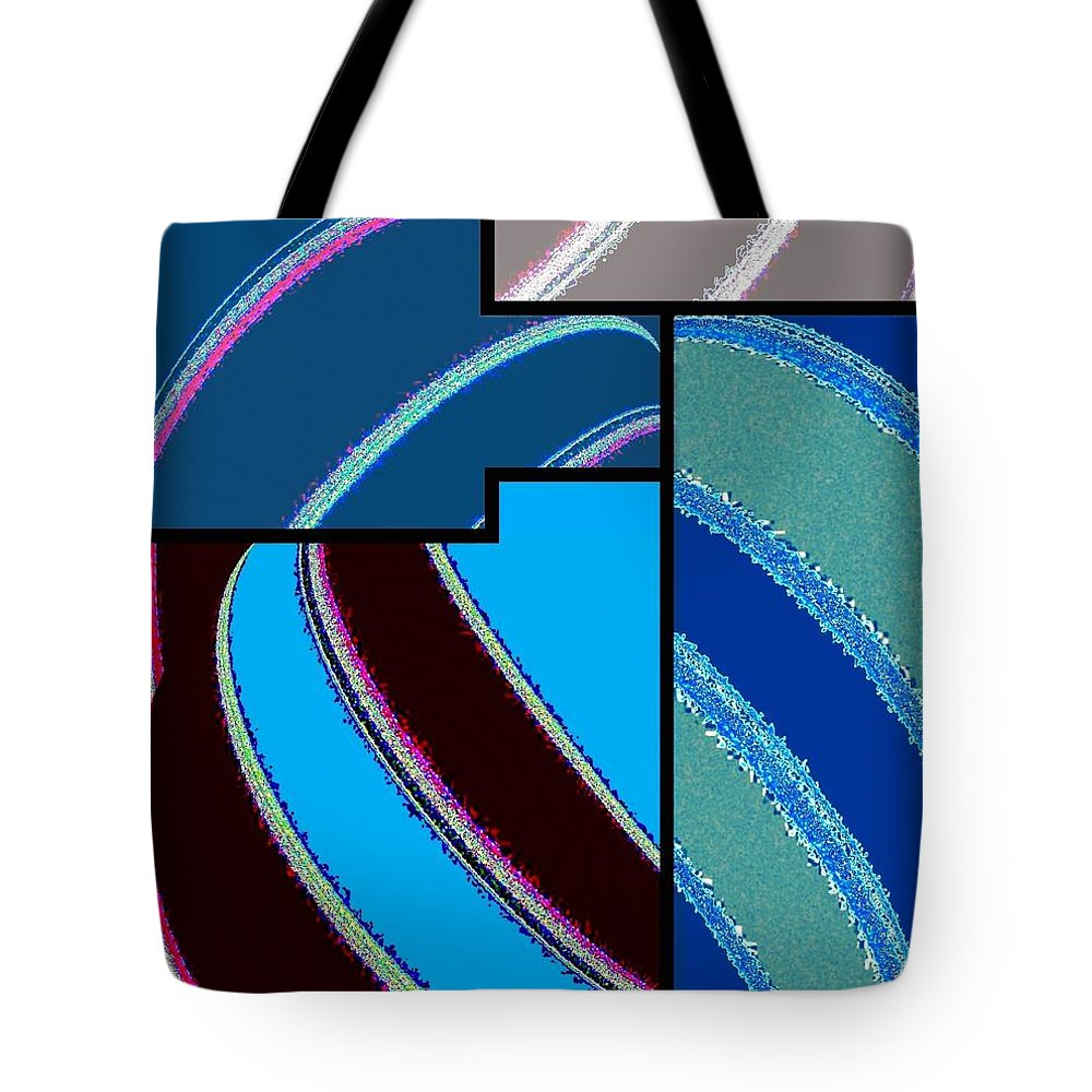 Abstract Fusion Tote Bag featuring the digital art Abstract Fusion 143 by Will Borden