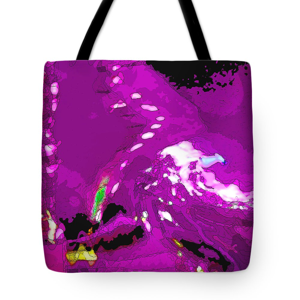 Purple Tote Bag featuring the photograph Abstract In Purple by Art Block Collections