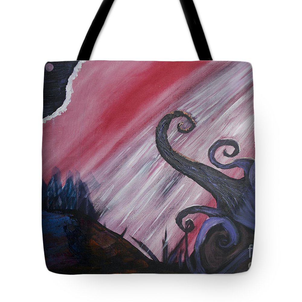 Donley Tote Bag featuring the painting Abstract Landscape by Ian Donley