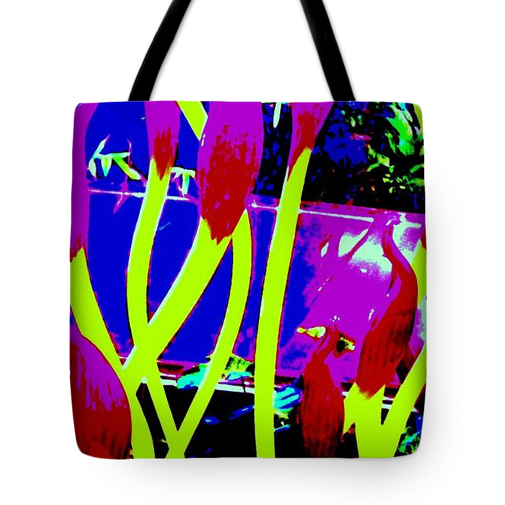 Abstract Tote Bag featuring the photograph Abstract Lavender by Eric Schiabor